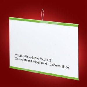 Modell 21 Oberleiste mit Mittelpunkt-Kordelschlinge
