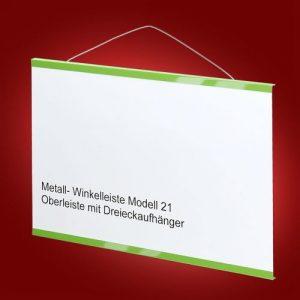 Modell 21 Oberleiste mit Dreieckaufhänger