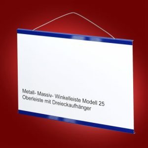 Modell 25 Oberleiste mit Dreieckaufhänger